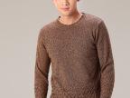 男休闲毛衣长袖圆领针织衫秋冬装新款青年羊毛衫批发