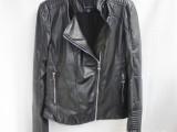 女式皮衣欧美时尚普通款立领皮衣Y1103拼接长袖拉链短外套