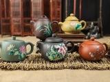 繁华溢彩珐琅紫砂组 可谓艺术和收藏价值兼备