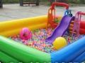 暑假经营支架游泳池 充气水滑梯 沙滩玩具 充气城堡 厂家直销