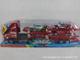 大卡车平板车配小车玩具,包括惯性平板车双层等