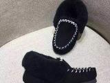 韦雪同款皮毛一体雪地靴女短靴包子鞋小黑鞋