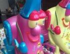 全新儿童电玩游戏机毛绒电动玩具摇摆机轨道车