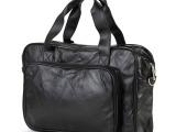 厂家直销 时尚真皮男包商务包手提包单肩包男 羊皮男士包 B052