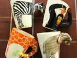 创意杯子 手绘3D立体动物陶瓷杯 马克杯水杯批发4款