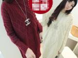 秋冬孕妇装 中长款麻花套头针织孕妇毛衣1122