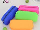 硅胶笔袋拉链包 糖果色大容量笔袋 韩版铅笔拉链笔袋彩色文具袋