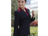 正版香港七夕鸟修身女西装 2012新款商务套装 有特大码 蓝08