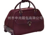 厂家供应高品质时尚1680D 牛津布拉杆旅行包,铝质内置拉杆。