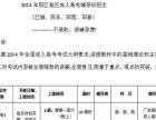 2014年广东阳江地区成人高考辅导