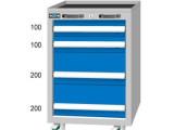 工具柜重型抽屉式工具车零件柜车间W566 D600 H830