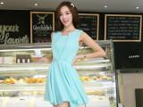 2014夏装装新款 韩版圆领**收腰显瘦背心款连衣裙