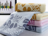 纯棉割绒玫瑰毛巾 加厚纯棉毛巾厂家直销优质吸水高阳纯棉毛巾