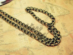 雅亿DIY饰品配件 古青铜铁链 十字圆丝链条 2.1mm手链饰品材料