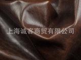 意大利进口头层牛皮 皮料皮革 油蜡疯马皮 软包 复古咖啡色