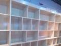 高档玻璃货架化妆品柜红酒柜汽车坐垫柜烤漆柜免漆木柜