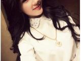 2014春装新款女装 欧美雪纺衫 长袖女衬衫 白色打底衬衣一件代