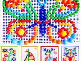拼图玩具 益智拼图玩具 蘑菇钉拼图 婴幼儿玩具 儿童益智玩具