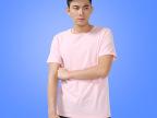 纯棉纯色圆领男式短袖T恤  精梳棉空白T恤定做 热转印空白t恤批发