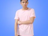 纯棉纯色圆领男式短袖T恤  精梳棉空白T恤定做 热转印空白t恤批