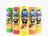 厂家全国供应薯片罐膨化食品包装纸罐定制