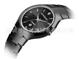 钨钢手表 全钨钢圆形 石英男士手表系列 防水 防刮 情侣手表批发