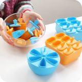 茶花六冰格模具 自制冰棍两件套装带碗盖冰棒盒 厨房小工具104g