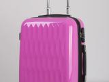 厂家供应粉红色水波纹PC拉杆航空箱ABS登机箱行李箱包 女