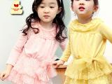 2014较秋款 韩版童裙批发 蕾丝女童连衣裙 品牌童装裙衫佛山童