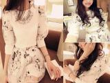 2014夏季新款女装甜美雪纺欧根纱短裙套装两件套潮 厂家直销