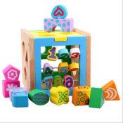 益智玩具 幼得乐彩色数字智力盒 几何数字形状 拆装积木玩具