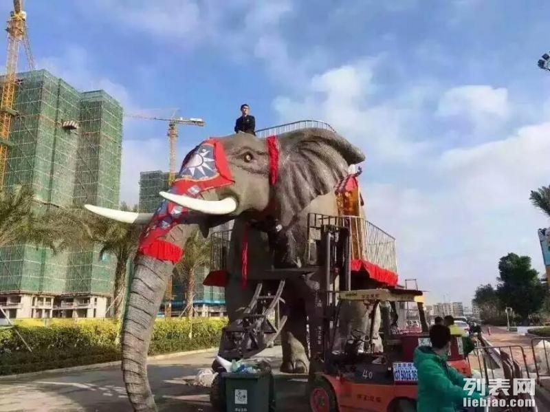 贺州较新展览机械大象租赁 仿真动物展览智能瀑布秋千设备出租