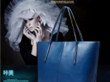 现货立发新款PU配牛皮单肩包斜跨女士包 时尚欧美复古手提包直销