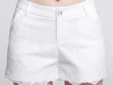 2015时尚百搭复古蕾丝短裤弹力显瘦阔腿蕾丝外穿大码小香风热裤女