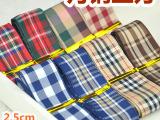 必备款 英伦风学院风 格子带 丝带DIY发饰配件蝴蝶结材料 25
