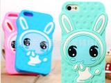 热卖款超萌立体兔IPhone5S手机壳 rabito硅胶手机套厂