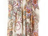 棉质柔软围巾超长提花空调披肩 条纹彩色民族风保暖防晒巾流苏女
