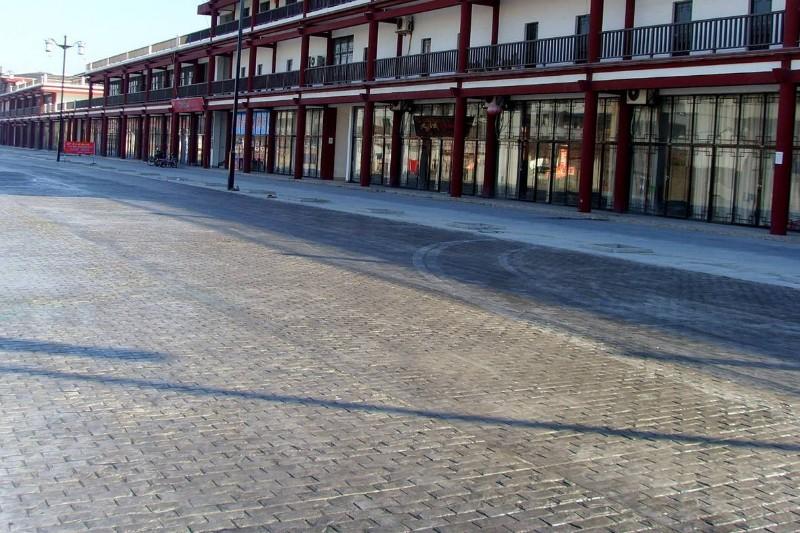 游乐场公园彩色艺术地坪承接 压模地面专业施工