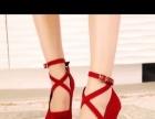 红色婚鞋39码就穿了两个小时全新的有意者联系