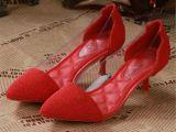 欧洲站尖头女鞋后包跟韩国淑女优雅气质女鞋微信一件代发
