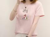 夏装时尚韩版女装印花短袖 厂家批发 跑量货源