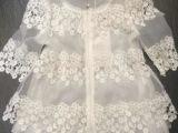 调调家2014春装新款欧洲站圆领绣花长袖娃娃款蕾丝衫淘宝代理