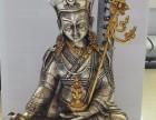 尼泊尔释迦传承纯银鎏金莲花生像