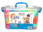 幼儿园教具 126粒桶装积木 拼装积木 塑料 拼插益智玩具儿童积木
