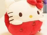 凯蒂猫公仔 毛绒靠枕午休枕 创意水果KT猫暖手捂插手 萌