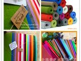 厂家直销 彩色涤纶针刺无纺布 手工艺品用布