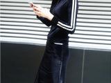 欧洲站秋冬新款女装针织套装长袖丝绒两件套 时尚休闲裙套装