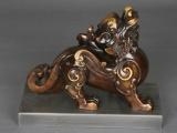 父辛爵小礼盒,促销纪念品西安仿古青铜器酒器西安微型铜车马工艺