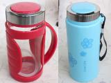 2014新款 批发塑玻杯双层玻璃水杯/创意杯子/玻璃办公杯 茶杯