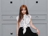 2014夏欧洲站韩国代购同款新款系带蝴蝶结无袖两件套甜美连衣裙